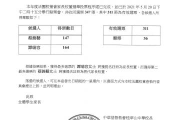 家長校董選舉結果(中文版)